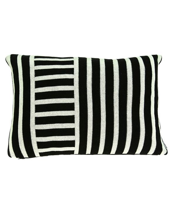 Parkland Collection Essex Transitional Black Pillow Cover with Polyester Insert