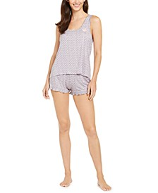 Tank Top & Boxer Shorts Pajamas Set