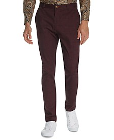 Tallia Men's Straight-Fit Stretch Geo Paisley Pants