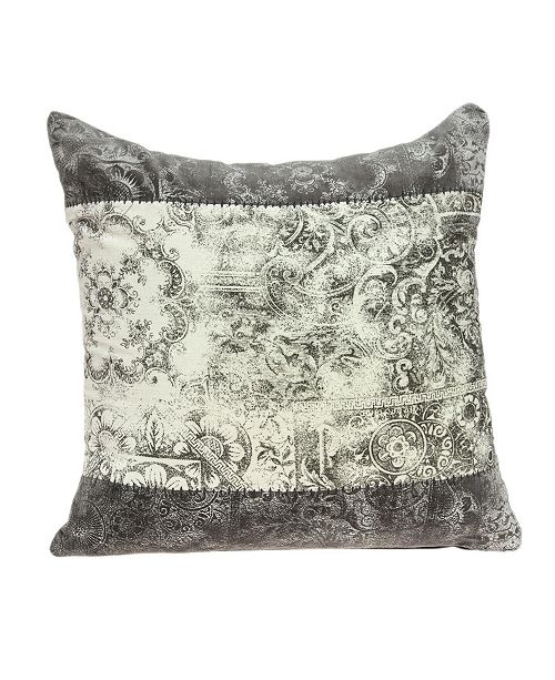 Parkland Collection Hannah Traditional Multicolor Pillow Cover With Down Insert