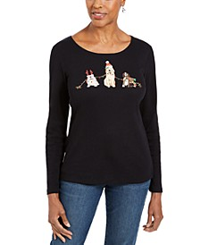 Petite Holiday Dog Graphic Shirt, Created For Macy's