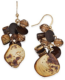 Shaky Bead & Shell Drop Earrings, Created For Macy's