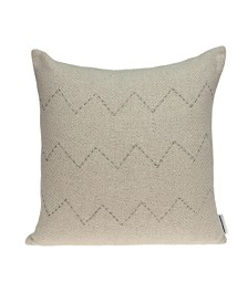Parkland Collection Diana Transitional Beige Pillow Cover With Poly Insert