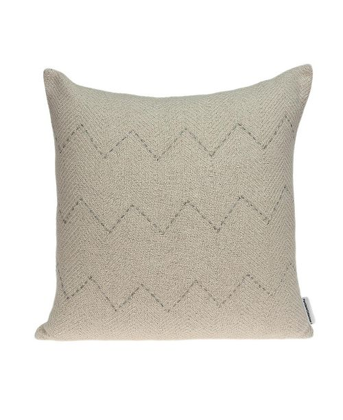 Parkland Collection Diana Transitional Beige Pillow Cover with Polyester Insert