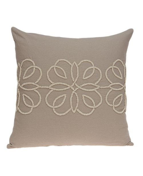 Parkland Collection Sutra Transitional Tan Pillow Cover
