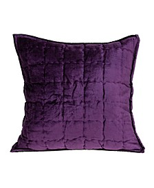 Agio Transitional Purple Solid Quilted Pillow Cover