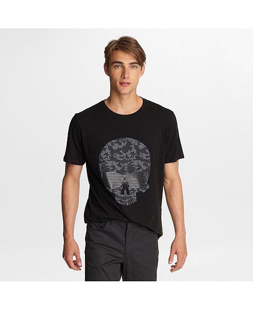 Karl Lagerfeld Paris Men's Camo Skull Print T-Shirt