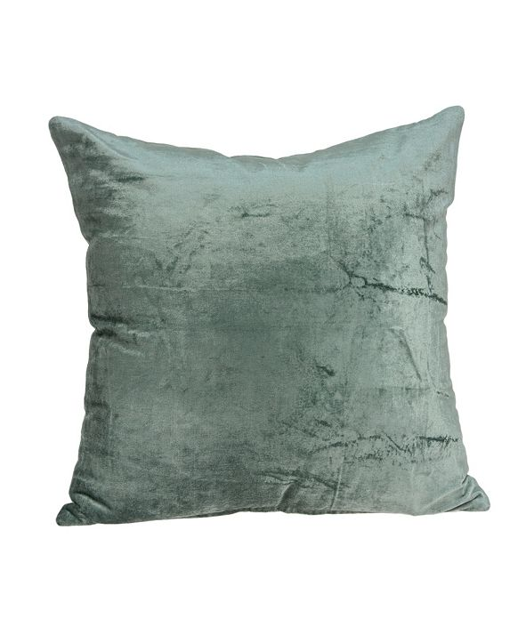 Parkland Collection Diego Transitional Sea Foam Solid Pillow Cover With Down Insert