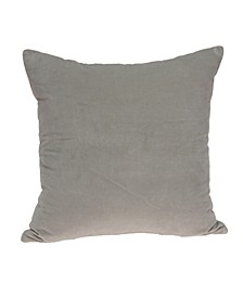 Emma Transitional Grey Solid Pillow Cover