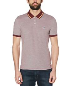 Original Penguin Men's Slim-Fit Tipped Birdseye Polo Shirt