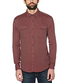 Men's Slim-Fit Flannel Shirt