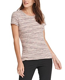 Petite Crewneck Ribbed Top