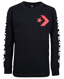 Converse Big Boys Star Chevron Wordmark Logo T-Shirt