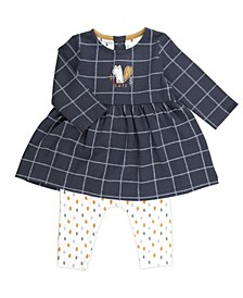 Baby Boy and Girl 2-Piece Plaid Tunic and Legging Outfit Set