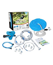 Slackers Zipline 70' Outdoor Play Adventure Zip Line System For Kids With Spring Brake Included