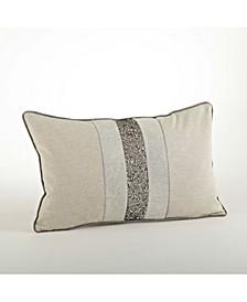 """Beaded Band Design Throw Pillow, 12"""" x 20"""""""