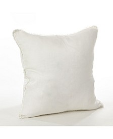 "Linen Pom Pom Trim Throw Pillow, 20"" x 20"""