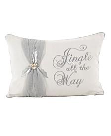 "Jingle All The Way Throw Pillow, 12"" x 18"""