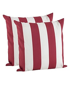"Striped Pillow - Cover Only, Set of 2, 17"" x 17"""