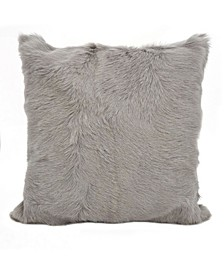 "Glam Goat Fur Polyester Filled Throw Pillow, 20"" x 20"""