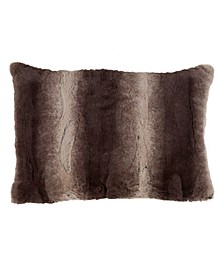 "Faux Fur Decorative Throw Pillow, 14"" x 20"""