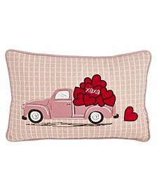 """Love Truck Print Throw Pillow, 13"""" x 20"""""""