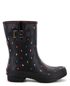 Women's Rain Dot Rain Boot