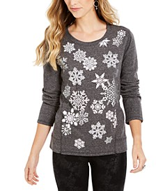 Snowflake Embellished Sweatshirt, Created For Macy's