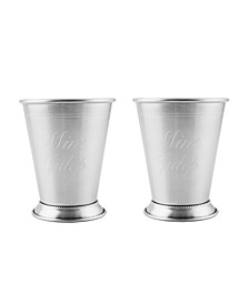 Stainless Steel Silver Mint Julep Cups, Set of 2