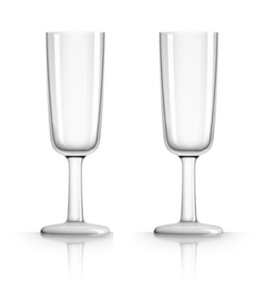by Palm Tritan Forever-Unbreakable Clear Flute Glass non-slip base,  Set of 2