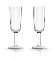 by Palm Tritan Clear Flute Glass, Set of 2