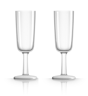 Marc Newson by Palm Tritan Clear Flute Glass, Set of 2