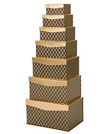 Glitzhome 7 Piece Gift Box Set