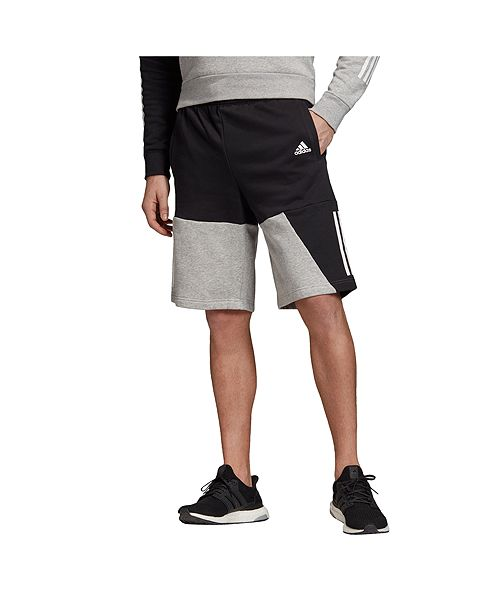 adidas 3 stripe fleece shorts