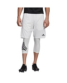 Men's Soccer Shorts with Built In Running Tights