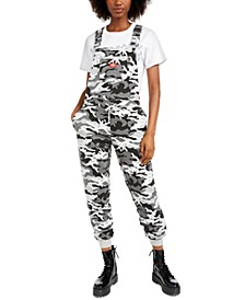 Junior's Camo-Printed Overall Pants