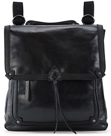The Sak Ventura Leather Flap Backpack
