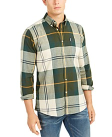Men's Tailored-Fit Tartan 5 Plaid Shirt