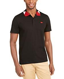 Men's Semi-Fancy Collar Polo Shirt, Created For Macy's
