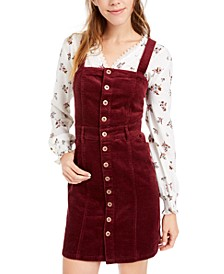 Juniors' Button-Down Corduroy Dress, Created For Macy's