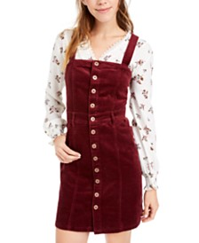 American Rag Juniors' Button-Down Corduroy Dress, Created For Macy's