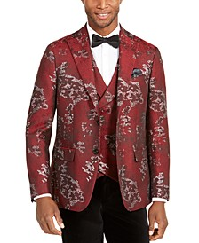 Men's Slim-Fit Metallic Floral Dinner Jacket