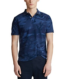 Men's Classic Fit Camo Mesh Polo Shirt