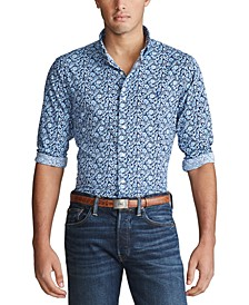 Men's Printed Performance Twill Sport Shirt