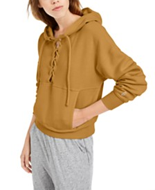 Free People FP Movement Believe It Lace-Up Hoodie