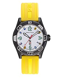 N83 Ladies Polignano Yellow, Black Silicone Strap Watch 36mm