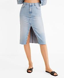 Mango Slit Denim Skirt