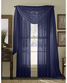 """Lucido By Canberra Sheer Voile Swag Scarf 55"""" X 216"""""""