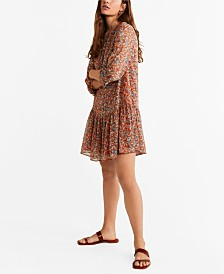 Mango Printed Short Dress