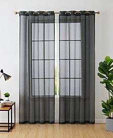 Lumino by Perth Semi Sheer Grommet Curtain Panels - 54 W x 84 L - Set of 2